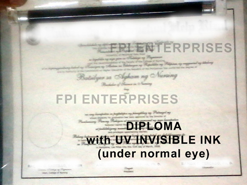 Security Printing Solutions Uv Invisible Security Ink Hologram